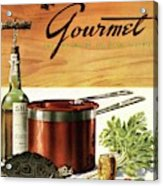 A Gourmet Cover Of Turtle Soup Ingredients Acrylic Print