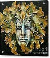 A Green Man Acrylic Print