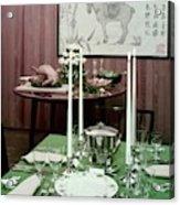 A Green Table Acrylic Print