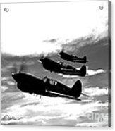 A Group Of P-40 Warhawks Fly Acrylic Print