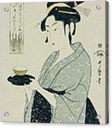A Half Length Portrait Of Naniwaya Okita Acrylic Print by Kitagawa Utamaro