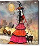 A Halloween Stroll Acrylic Print by Molly Harrison
