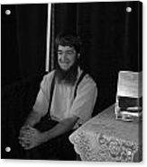 A Happy Amish Guy Acrylic Print