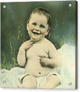 A Happy Baby Acrylic Print