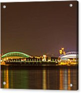 A Harbor Nightscape Acrylic Print