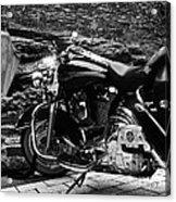 A Harley Davidson And The Virgin Mary Acrylic Print
