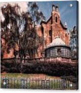 A Haunting House Acrylic Print by Joshua Minso