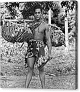 A Hawaiian With Coconuts Acrylic Print