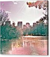 A Haze Over Central Park Acrylic Print