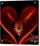A Heart With Flower. Acrylic Print by Dipali S
