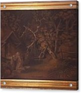 A-hermit-praying-at-a-wayside-shrine-by-benjamin-zobel Acrylic Print