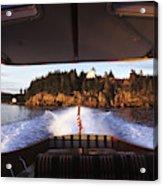 A Hinckley Picnic Boat Travels Acrylic Print