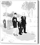 A Husband And Wife At A Funeral Comfort Acrylic Print