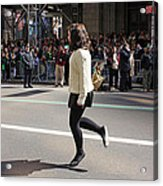A Irish Dancer Doing Some Dancing At The 2009 St. Patrick Day Parade Acrylic Print