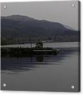 A Jetty Pushing Out Into The Waters Of Loch Ness In Scotland Acrylic Print