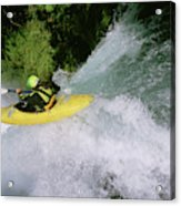 A Kayaker Running A Beautiful Spirit Acrylic Print