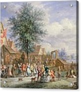 A Kermesse On St. Georges Day Acrylic Print by Angel-Alexio Michaut