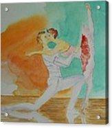 A Kiss In Ballet  Acrylic Print