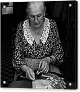 A Lacemaker In Bruges Acrylic Print