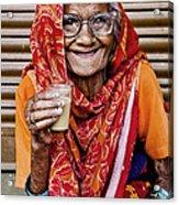 A Lady And Her Chai II Acrylic Print