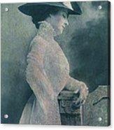 A Lady Ponders Acrylic Print