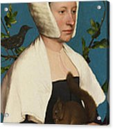 A Lady With A Squirrel And A Starling Acrylic Print