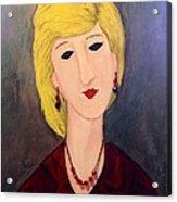 A Lady With Jewelry Acrylic Print