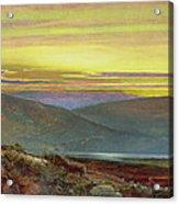 A Lake Landscape At Sunset Acrylic Print