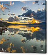 A Lake Pend Oreille Sunset  -  120601a-040 Acrylic Print