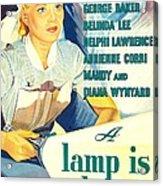 A Lamp Is Heavy, Aka The Feminine Acrylic Print