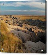 A Landscape Image Of Badlands National Acrylic Print