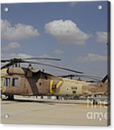 A Line Of Uh-60l Yanshuf Helicopters Acrylic Print