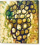 A Little Bit Abstract Grapes Acrylic Print by Jo Ann