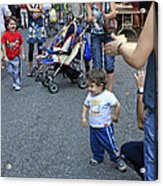 A Little Boy Dancing At The 200th Anniversary Of St. Patrick Old Cathedral Acrylic Print