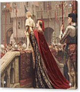 A Little Prince Likely In Time To Bless A Royal Throne Acrylic Print by Edmund Blair Leighton