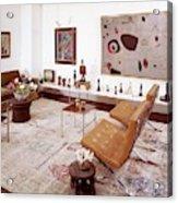A Living Room Full Of Art Acrylic Print