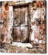 A Locked Door Acrylic Print by H Hoffman