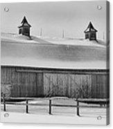 A Long Barn  7k00040b Acrylic Print