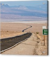 A Long Road Through Death Valley Acrylic Print