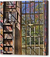 A Look From The Library Acrylic Print by Susan Candelario