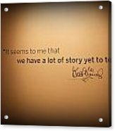 A Lot Of Stories Acrylic Print