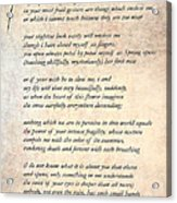 A Love Poem Acrylic Print