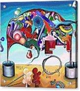 A Love Story/abstraction Of An Elephant Enhanced  Acrylic Print