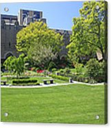 A Lovely View Of A Little Garden At The United States Military A Acrylic Print