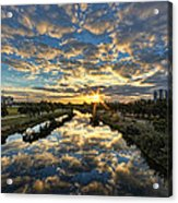 A Magical Marshmallow Sunrise  Acrylic Print by Ron Shoshani
