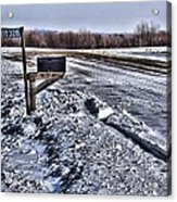 A Mailbox In Winter Acrylic Print