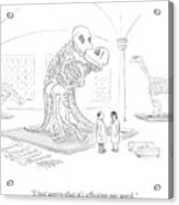 A Male And Female Paleontologist Acrylic Print