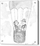 A Man Asks A Woman In A Hot-air Balloon Acrylic Print