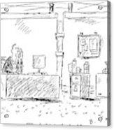 A Man In An Office Acrylic Print