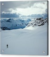 A Man Ski Touring Near Icefall Lodge Acrylic Print
